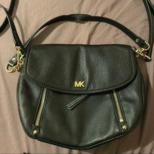 Michael Kors Black Leather Side Bag